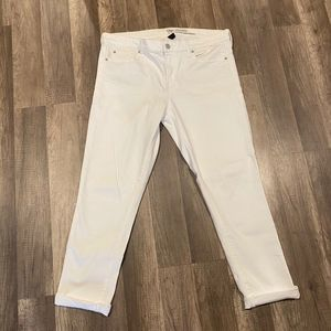 Gap Girlfriend White Jeans size 10R